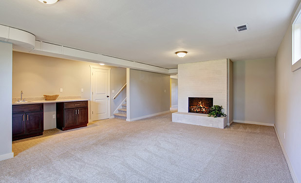 clean basement carpets